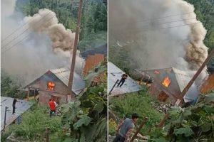 कुल्ल: फोजल गांव के एक मकान में भड़की आग, तीन लाख का नुकसान