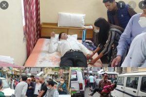 विधायक सुरेंद्र शौरी ने मांगी लिफ्ट, कुछ देर बाद खाई में लुढ़की गाड़ी